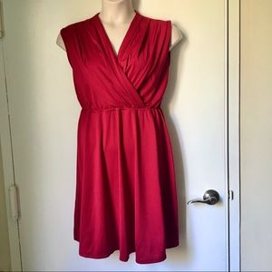 Face N Face Red Wrap Top Dress